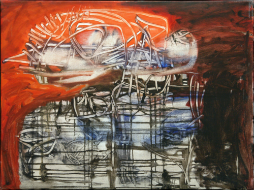 George Lampe - Schilderij de Dood II (Painting the Death II) - GL188