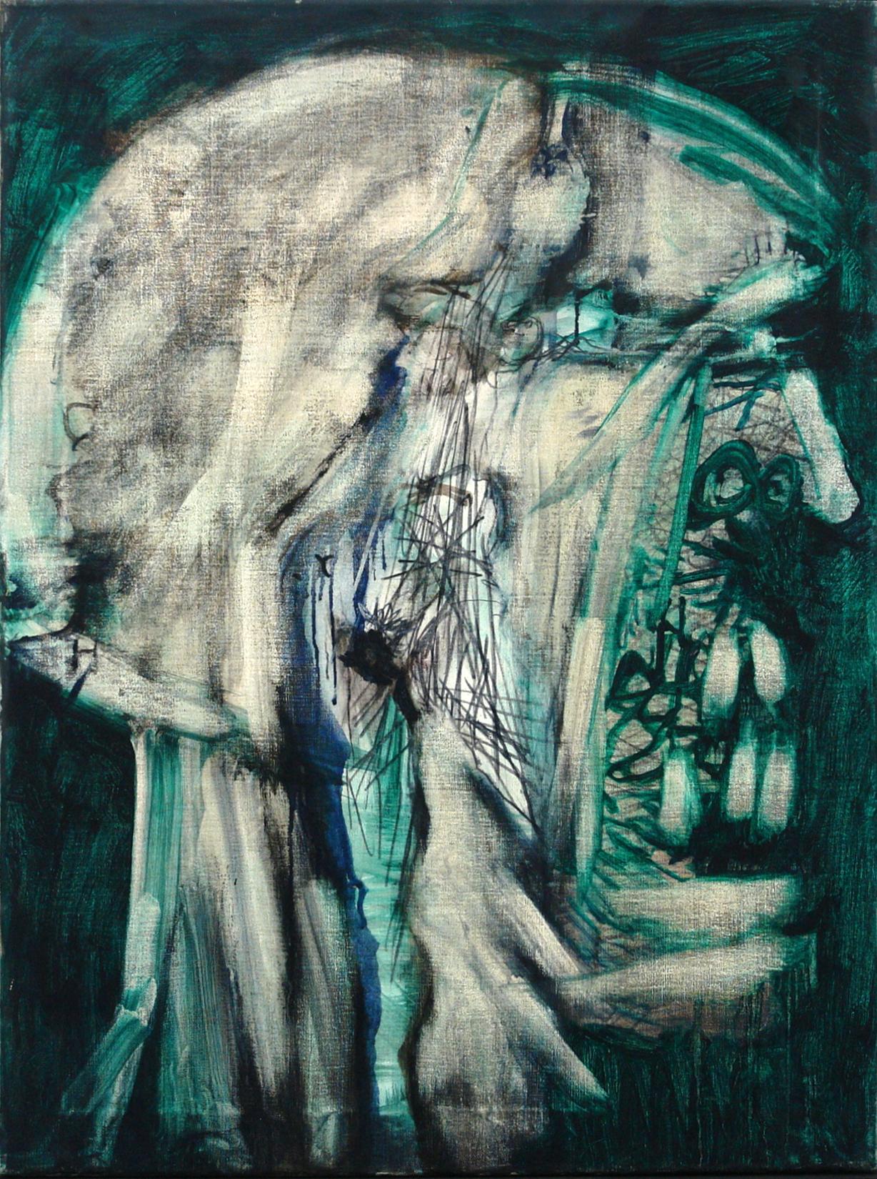 George Lampe - Trois Portraits de la Schizophrénie (Hommes) No. 2 (Three Portraits of Schizophrenia (Males) #2) - GL194