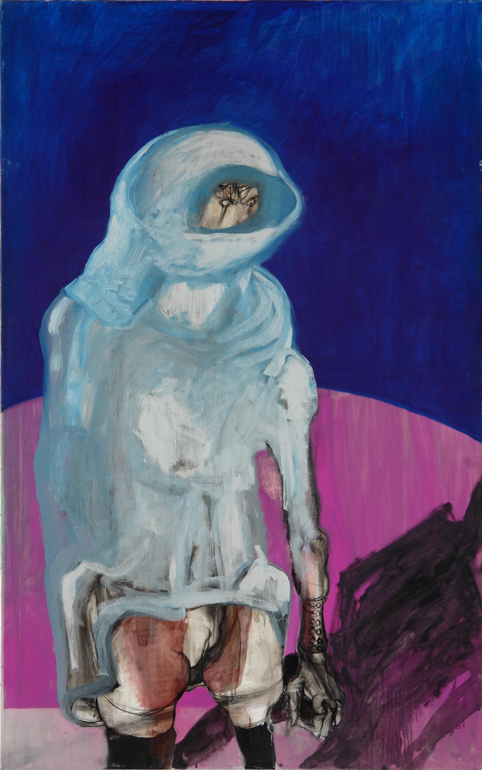 George Lampe - Untitled  Oil -GL58