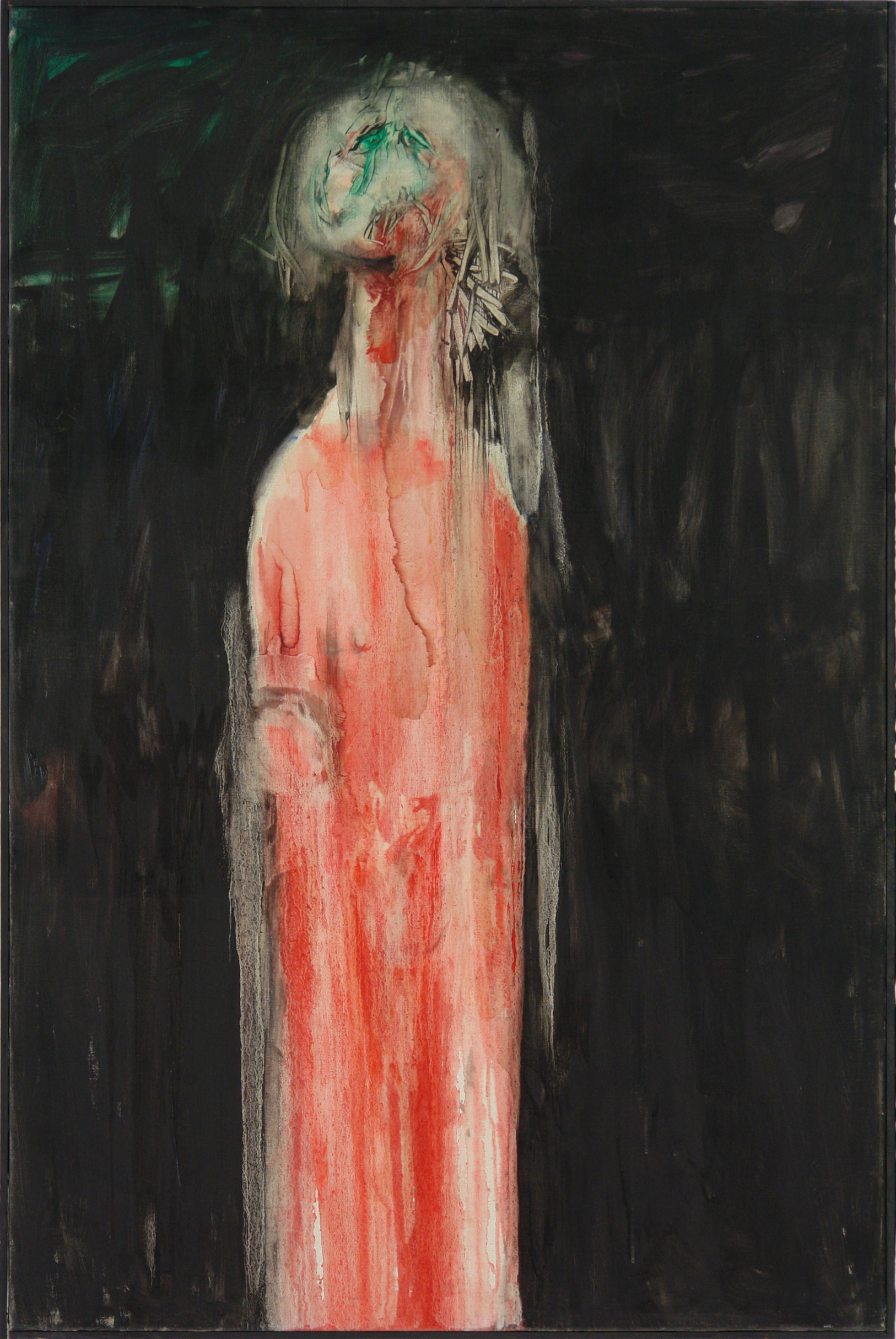 George Lampe - Femme au Moignon (Woman with Stump) | Oil on canvas | 100 x 150 | Signed on the reverse | 1966 | GL91