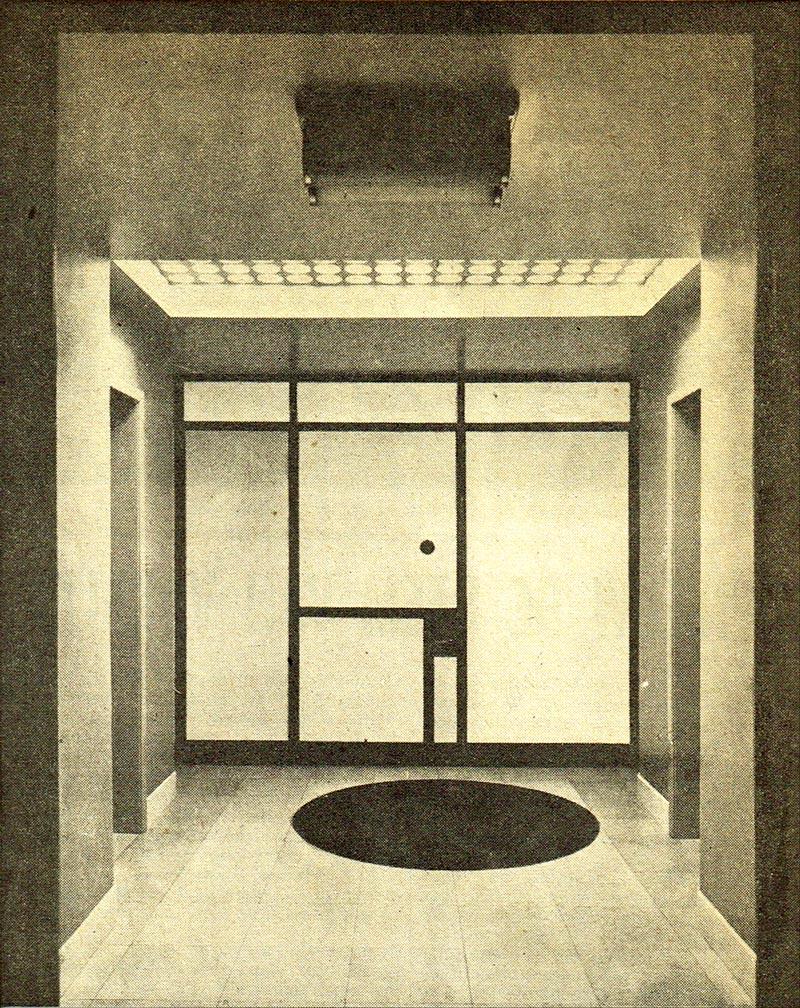 Mondriaan toegepast: een interieur van Otto Haesler in 1928