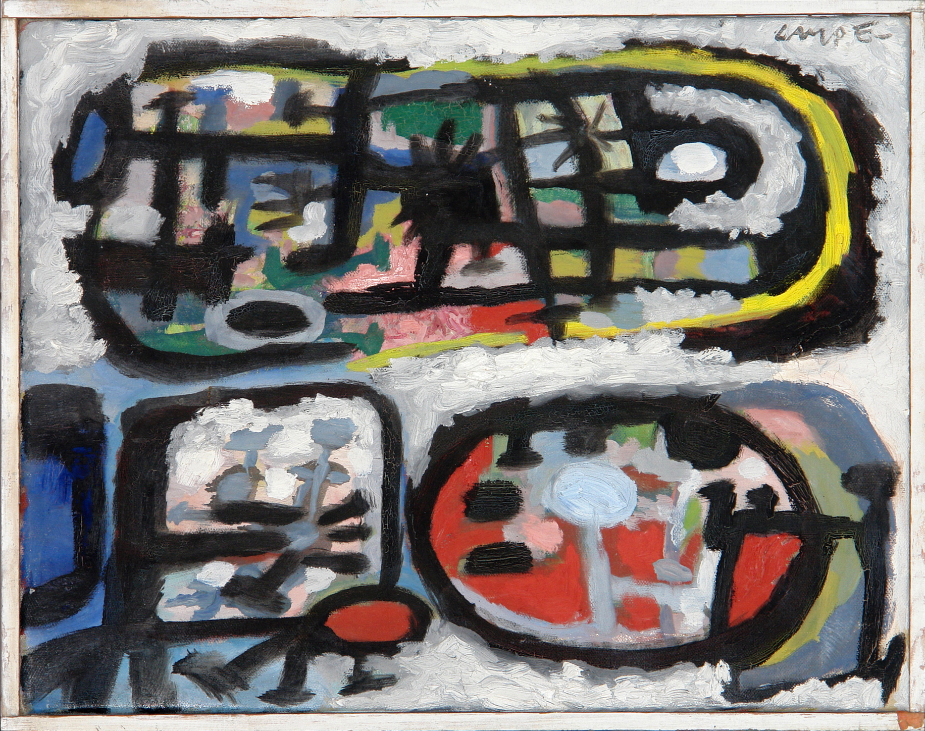 George Lampe - Kleine Abstractie (VERKOCHT)i>(Small Abstraction) - GL205